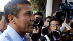 El presidente electo peruano Ollanta Humala durante la campaña.