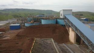 Vue du cuivre et de l'usine des polymétaux de la SOREMI de Mbandza