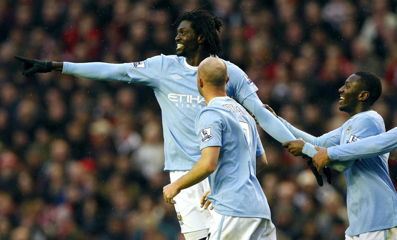 Emmanuel Adebayor de nouveau buteur contre Liverpool. Il n'avait plus marqué depuis la mi-septembre, contre Arsenal.