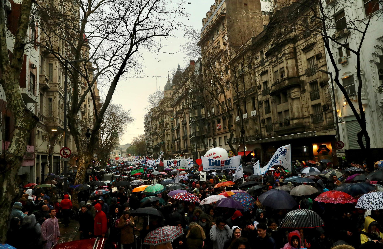 Manifestation pour l'université publique le 30 août 2018 à Buenos Aires.