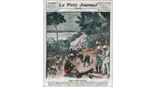Couverture du «Petit Journal Illustré» (1924) sur la construction de la ligne de chemin de fer «Congo-Océan».