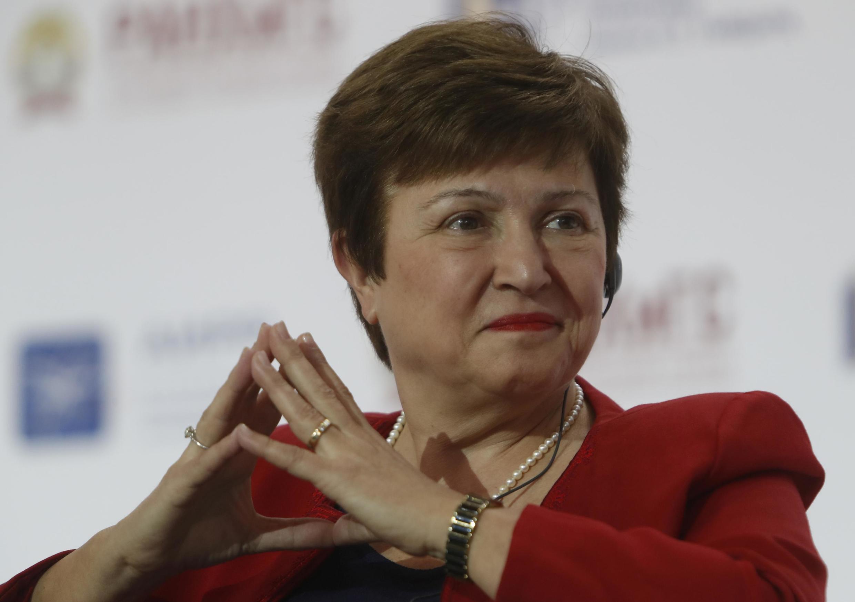 Bà Kristalina Georgieva trong cương vị giám đốc điều hành Ngân hàng Thế giới trong mộ diễn đàn kinh tế tại Mátxcơva ngày 17/01/2018.