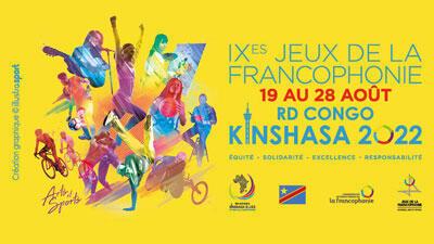L'affiche des Jeux de la francophonie qui doivent se tenir à Kinshasa en août 2022.