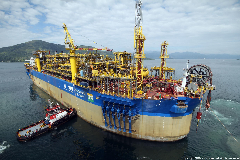 Embarcação da empresa holandesa SBM, que pagará multa por corrupção.