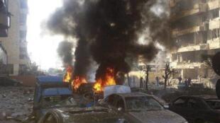 伊朗驻黎巴嫩使馆门前发生连环爆炸,2013年11月19日。