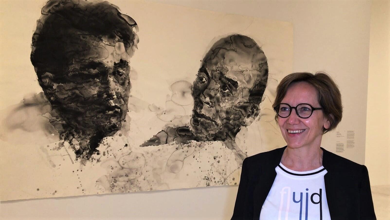 Frédérique Goerig-Hergott, commissaire de l'exposition « Yan Pei-Ming – Au nom du père » au Musée Unterlinden, à Colmar.