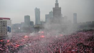 La «marche de l'indépendance» le 11 novembre 2018 à Varsovie, en Pologne.