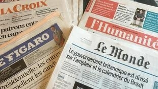 Primeiras páginas dos diários franceses 30/08/2016