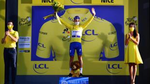 Julien Alaphillipe en jaune
