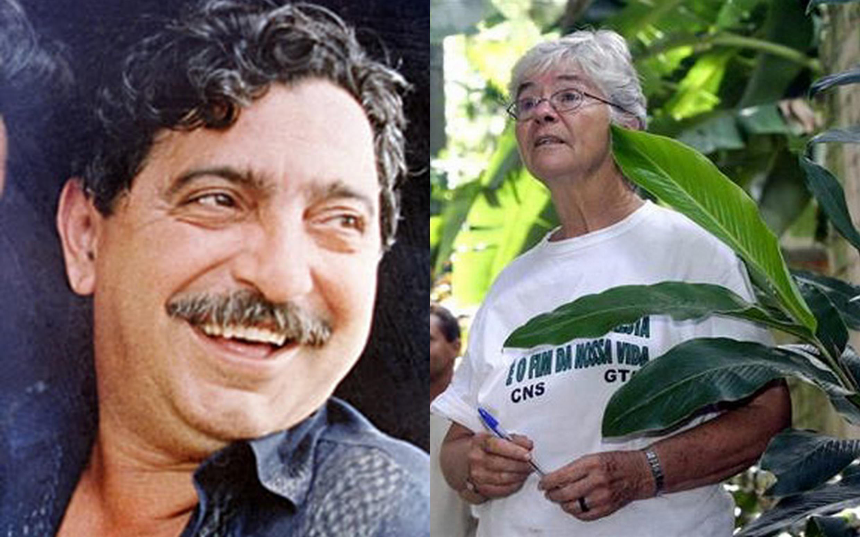O líder seringueiro Chico Mendes e da missionária Dorothy Stang
