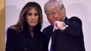 Washington, le 19 janvier 2017. Le président Donald Trump en compagnie de son épouse Melania.