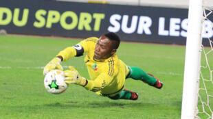Barel Mouko, gardien du Congo-Brazaville, lors du CHAN 2018 au Maroc.