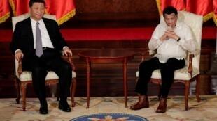 中国国家主席习近平会见菲律宾总统杜特尔特资料图片