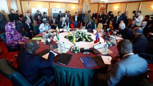 Une vue générale de la réunion des ministres des Affaires Etrangères du Sahara à Alger, le 16 mars 2010.