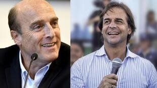 Daniel Martínez, el candidato oficialista del Frente Amplio, y Luis Lacalle Pou, el candidato opositor del Partido Nacional, se enfrentarán el 24 de noviembre en las urnas.