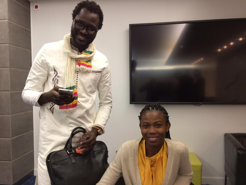 Cheikh Fall et Mylène Flicka.