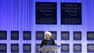 """سخنرانی حسن روحانی- رئیس جمهوری اسلامی ایران، در """"همایش بینالمللی اقتصادی داووس"""". ٢٣ ژانویه ٢٠١٤"""