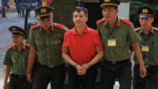 Michael Nguyen à son arrivée au tribunal de Hô Chi Minh-Ville, le 24 juin 2019.