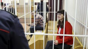 Катерина Борисевич и Артем Сорокина в зале суда