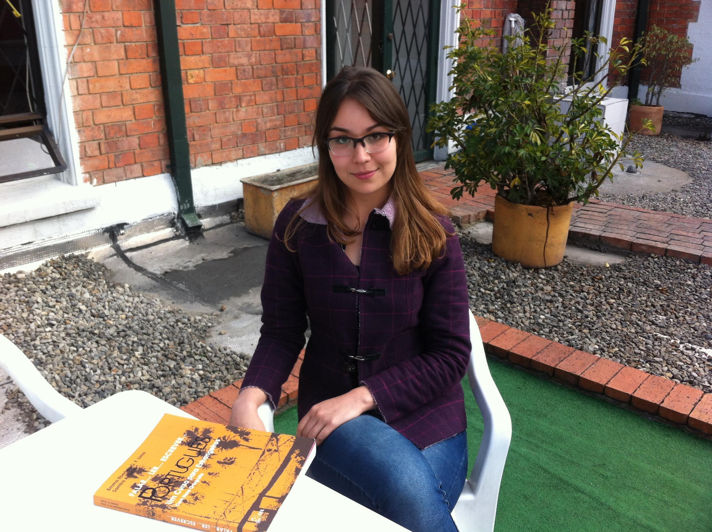 Tatiana Rodriguez, aluna do IBRACO, estuda português com o objetivo de fazer um mestrado na Universidade de São Paulo.