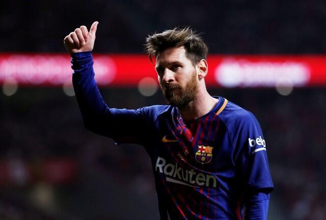 O argentino Lionel Messi, 30 anos, superou a marca de € 126 milhões de ganhos na temporada 2017-2018.