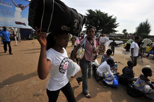 Au mois de mars 2011, des familles entières avaientt fui le quartier d'Abobo à Abidjan lors des affrontements.