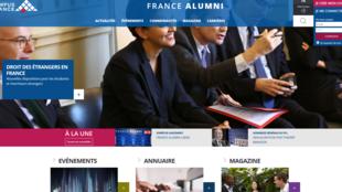 Le portail internet France Alumni.
