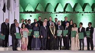 مراسم اهدای جایزه آقاخان در قلعه جاهلی شهر العین - امارات متحده عربی