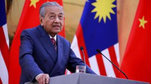 Le Premier ministre malaisien, Mahathir Mohamad, à Pékin, le 20 août 2018.