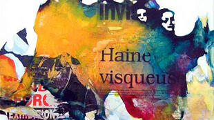 "Watercolour and collage ""Haine visqueuse"""