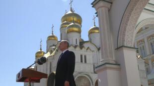 Президент Владимир Путин на церемонии инаугурации в Московском Кремле 7 мая 2018 года
