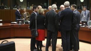 Министры иностранных дел Евросоюза перед началом встречи в Брюсселе