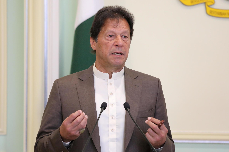Franministan Pakistan Imran Khan, yayin wata ziyara a Putrajaya, na Malaisiya ranar 4 ga watan Fabrairun 2020.