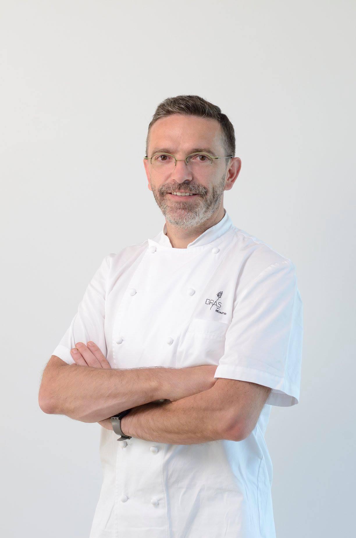 O chef francês Sébastien Bras, que comanda o restaurante Le Suquet.