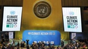"""گردهمایی دوشنبه اول مهر/ ٢٣ سپتامبر رهبران کشورهای جهان، در """"نشست اقلیمی ٢٠۱٩"""" سازمان ملل در نیویورک."""