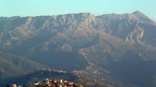Un paysage de la Kabylie en Algérie.