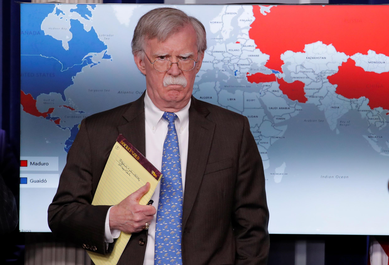 John Bolton, conseiller à la sécurité nationale de Donald Trump, le 28 janvier 2019.
