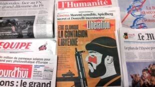 Primeiras páginas dos jornais franceses de 2/12/2015