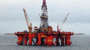 Plateforme pétrolière en mer du Nord.
