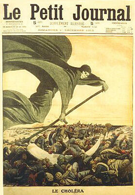 The cholera epidemic as seen by Le Petit Journal illustrated paper