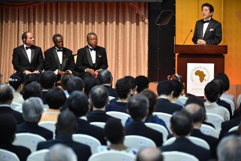 Thủ tướng Nhật Bản Shinzo Abe đọc diễn văn bế mạc Hội thảo TICAD 7, ngày 30/08/2019.