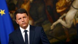 El presidente del Consejo italiano, Matteo Renzi.