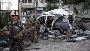 Kaboul, après un attentat-suicide. Photo datée du 22 août 2015.