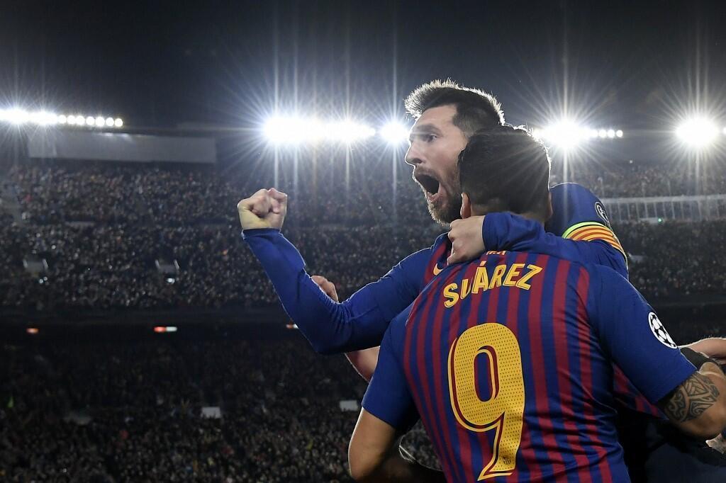 Lionel Messi et Luis Suarez, tous les deux buteurs face à Liverpool, le 1er mai 2019.