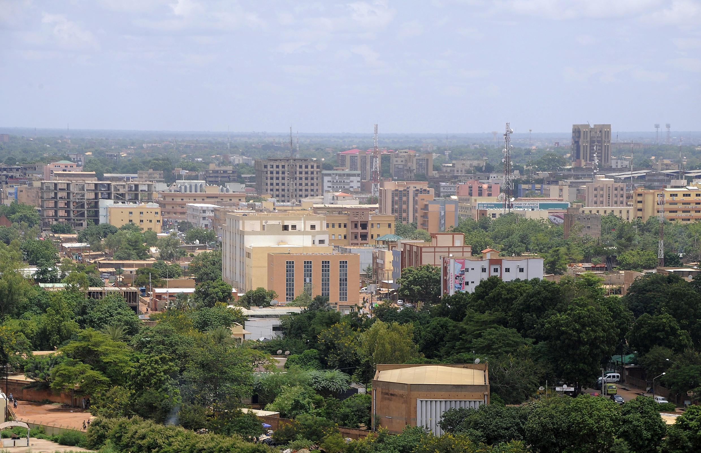 Vue du centre-ville de Ouagadougou, la capitale du Burkina Faso.
