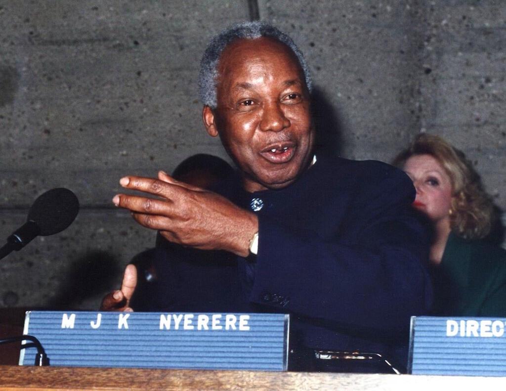 Rais wa kwanza wa Tanzania hayati Mwl Julius Kambarage Nyerere.