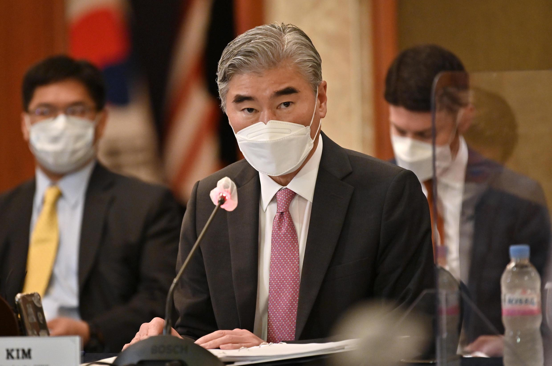 美國朝鮮問題特別代表金星容於 2021 年 6 月 21 日在首爾