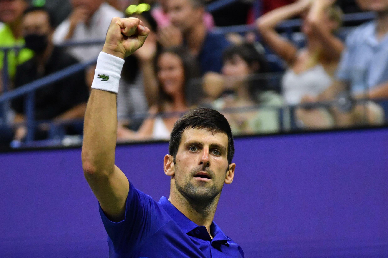 Le N.1 mondial Novak Djokovic lors du dernier US Open à New York, le 6 septembre 2021