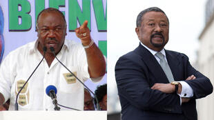 Ali Bongo Ondimba (kushoto) na kiongozi mkuu wa upinzani  Jean Ping.