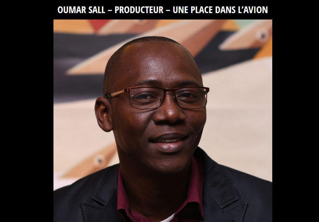Le sénégalais Oumar Sall, producteur de films (capture décran).